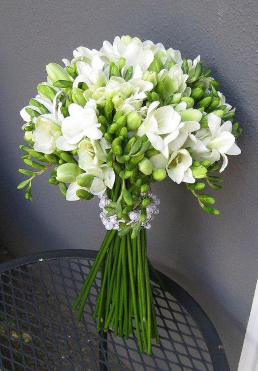 База цветов, свадебный букет из фрезии цена